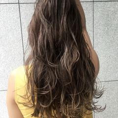 ハイライト 秋 ブリーチなし ロング ヘアスタイルや髪型の写真・画像