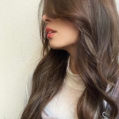 ロングヘア イルミナカラー デジタルパーマ ロング ヘアスタイルや髪型の写真・画像
