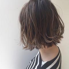 ナチュラル ロブ こなれ感 ボブ ヘアスタイルや髪型の写真・画像
