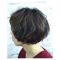 ボブ ガーリー ショートボブ マッシュ ヘアスタイルや髪型の写真・画像