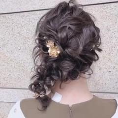 ヘアアレンジ ミディアム 簡単ヘアアレンジ 結婚式 ヘアスタイルや髪型の写真・画像