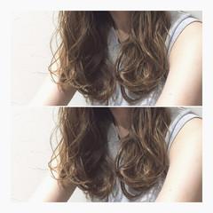 大人かわいい ロング ハイライト パーマ ヘアスタイルや髪型の写真・画像