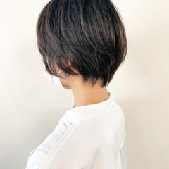 ショートボブ 小顔ショート ナチュラル ショートヘア ヘアスタイルや髪型の写真・画像