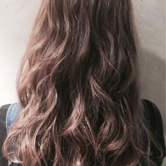 ガーリー ピンク アッシュ 春 ヘアスタイルや髪型の写真・画像