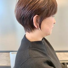 切りっぱなしボブ ベリーショート エレガント ショートヘア ヘアスタイルや髪型の写真・画像