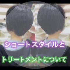 ショート ショートボブ 髪質改善 ナチュラル ヘアスタイルや髪型の写真・画像