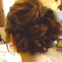 コンサバ モテ髪 ヘアアレンジ 編み込み ヘアスタイルや髪型の写真・画像