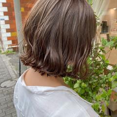 ナチュラル ボブ 切りっぱなしボブ ミニボブ ヘアスタイルや髪型の写真・画像