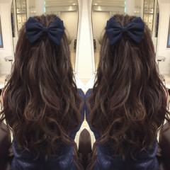 ガーリー ヘアアレンジ 暗髪 アッシュ ヘアスタイルや髪型の写真・画像