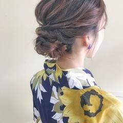 涼しげ 色気 セミロング 夏 ヘアスタイルや髪型の写真・画像