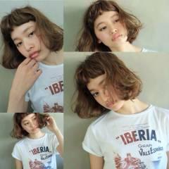 ストリート ショートバング 外国人風 ナチュラル ヘアスタイルや髪型の写真・画像