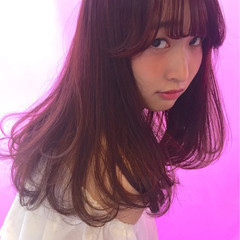愛され シースルーバング モテ髪 ガーリー ヘアスタイルや髪型の写真・画像