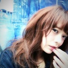 セミロング アッシュ 大人かわいい ストリート ヘアスタイルや髪型の写真・画像