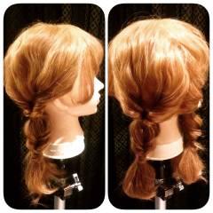 ガーリー フェミニン セミロング ゆるふわ ヘアスタイルや髪型の写真・画像