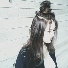 簡単ヘアアレンジ ヘアアレンジ ハーフアップ 夏 ヘアスタイルや髪型の写真・画像