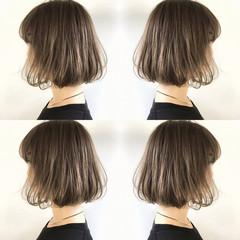 ハイライト ナチュラル 斜め前髪 外国人風 ヘアスタイルや髪型の写真・画像
