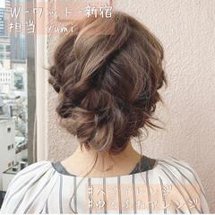 ミディアム ゆるふわ ナチュラル おだんご ヘアスタイルや髪型の写真・画像