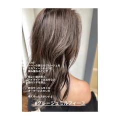 ナチュラル グラデーションカラー イルミナカラー ヘアアレンジ ヘアスタイルや髪型の写真・画像