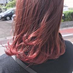アンニュイほつれヘア ピンク 透明感 ベージュ ヘアスタイルや髪型の写真・画像
