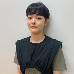 黒髪 サロンモデル ハンサムショート モード ヘアスタイルや髪型の写真・画像