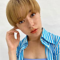 ハイトーンカラー ナチュラル ショート ショート女子 ヘアスタイルや髪型の写真・画像