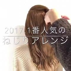 アウトドア フェミニン 簡単ヘアアレンジ ハーフアップ ヘアスタイルや髪型の写真・画像
