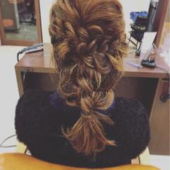袴 フェミニン ヘアアレンジ セミロング ヘアスタイルや髪型の写真・画像