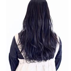 波ウェーブ イルミナカラー 透明感 ロング ヘアスタイルや髪型の写真・画像