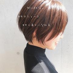 大人かわいい ショートヘア ミルクティーベージュ コンサバ ヘアスタイルや髪型の写真・画像