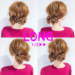 ヘアアレンジ デート エレガント ハロウィン ヘアスタイルや髪型の写真・画像