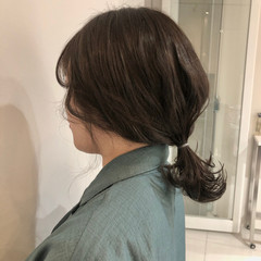 簡単ヘアアレンジ ナチュラル 春ヘア お団子アレンジ ヘアスタイルや髪型の写真・画像