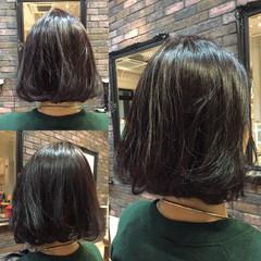 モード ナチュラル ボブ 切りっぱなし ヘアスタイルや髪型の写真・画像
