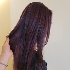 ブリーチオンカラー バイオレット モード ブリーチ必須 ヘアスタイルや髪型の写真・画像
