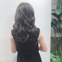 暗髪 ナチュラル 暗髪女子 大人ロング ヘアスタイルや髪型の写真・画像
