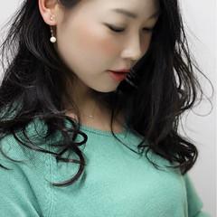 黒髪 コンサバ ロング 外ハネ ヘアスタイルや髪型の写真・画像