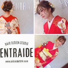 成人式 フェミニン ヘアアレンジ 和装ヘア ヘアスタイルや髪型の写真・画像