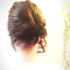 ヘアアレンジ ミディアム 結婚式 ショート ヘアスタイルや髪型の写真・画像