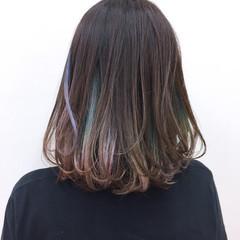 透明感 カラフルカラー 大人かわいい ボブ ヘアスタイルや髪型の写真・画像