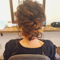 女子会 デート 結婚式 セミロング ヘアスタイルや髪型の写真・画像