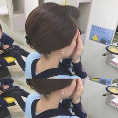 ヘアアレンジ ショート モード 秋 ヘアスタイルや髪型の写真・画像