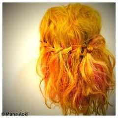 ヘアアレンジ ゆるふわ ミディアム ウォーターフォール ヘアスタイルや髪型の写真・画像