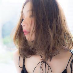 ガーリー ミディアム ゆるふわ 大人かわいい ヘアスタイルや髪型の写真・画像
