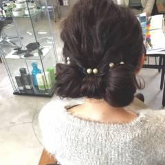 コンサバ ヘアアレンジ ボブ ショート ヘアスタイルや髪型の写真・画像