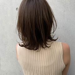 大人ミディアム ミディアム ナチュラル 大人ハイライト ヘアスタイルや髪型の写真・画像