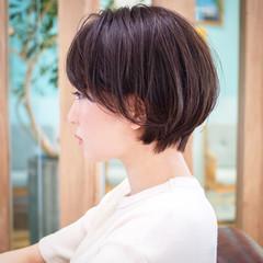 ナチュラル ショートカット ショート ショートボブ ヘアスタイルや髪型の写真・画像