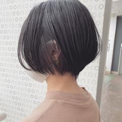 ショート 大人かわいい ナチュラル ショートボブ ヘアスタイルや髪型の写真・画像