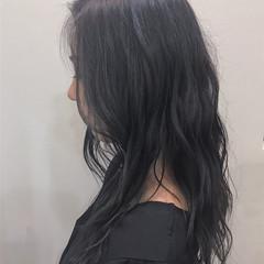 暗髪 大人ロング ダークアッシュ エレガント ヘアスタイルや髪型の写真・画像