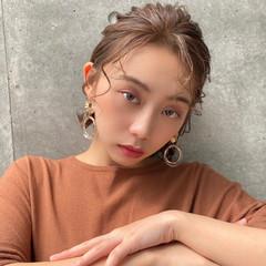 フェミニン ショートボブ 簡単ヘアアレンジ ミニボブ ヘアスタイルや髪型の写真・画像