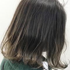 ローライト ボブ グラデーションカラー ハイライト ヘアスタイルや髪型の写真・画像