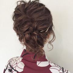 デート お祭り 花火大会 フェミニン ヘアスタイルや髪型の写真・画像